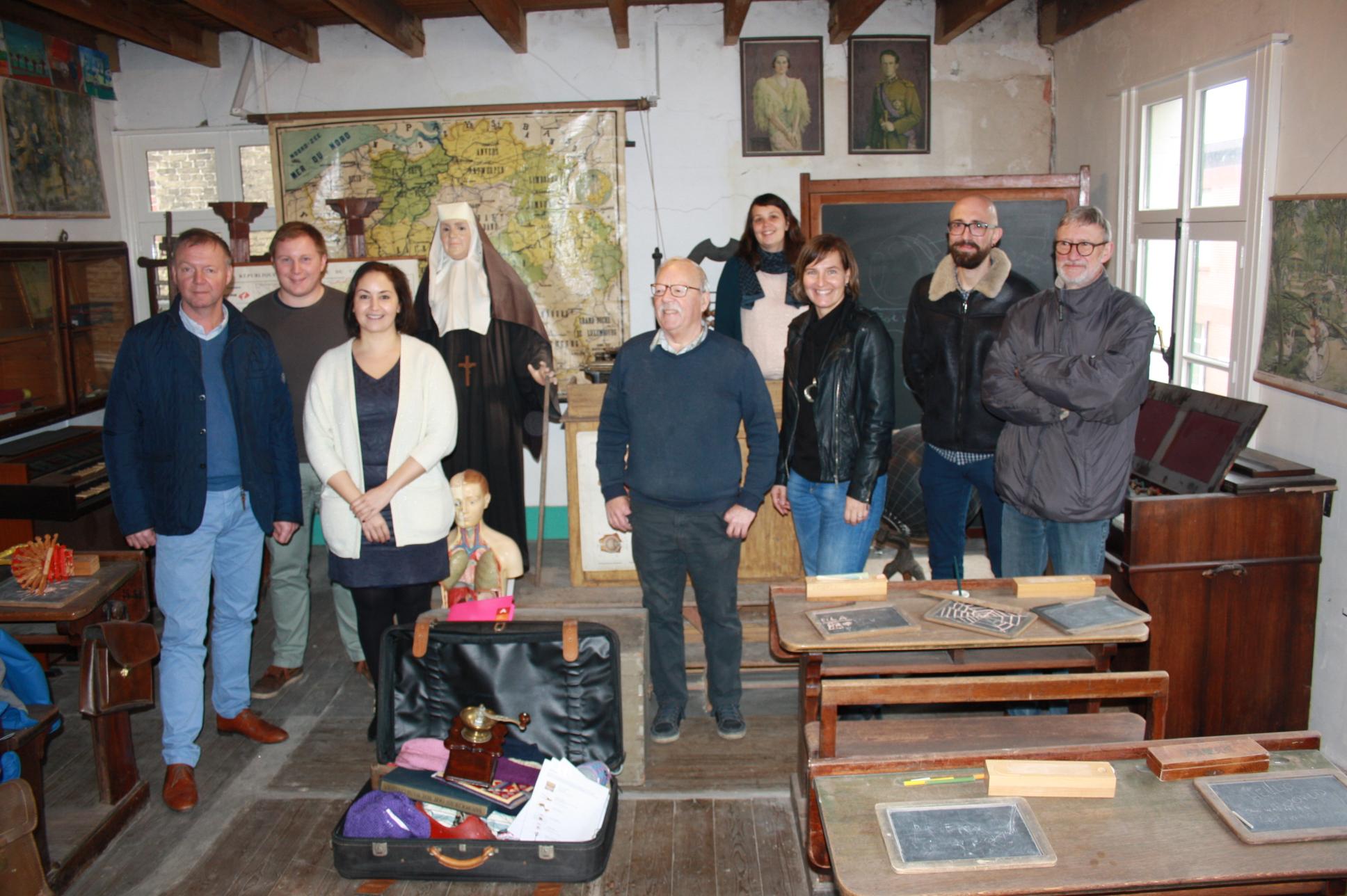 Schepen van Cultuur bezoekt Poldermuseum